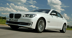 BMW 2012 7 Series Leccy limo: The hybrid BMW 7 Series can travel for up to four kilometres on electricity alone.