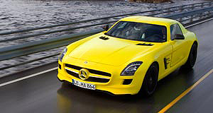 Mercedes-Benz 2015 SLS AMG E-CellGreen gullwing: The Mercedes SLS E-Cell can accelerate from zero to 100km/h in 4.0 seconds.