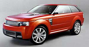 Land Rover 2005 Range Rover Sport Super Brit: Range Stormer concept features a supercharged V8 and 22-inch alloys.