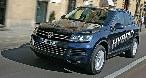Volkswagen 2011 Touareg Not here: The Volkswagen Touareg hybrid – which uses 8.2 litres per 100km – has been ruled out for Australia.