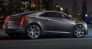 Cadillac 2013 ELR Mean and green: The aggressive Cadillac ELR 2+2 coupe will use a version of the Chevrolet Volt's range-extender hybrid technology.