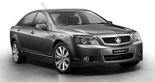 Holden 2010 Caprice All alone: Holden's Caprice is the Australian brand's sole long-wheelbase contender after the death of the Statesman.