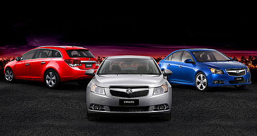 Holden 2011 Cruze And wagon makes three: Holden is set to bring its Cruze line-up to three with an imported wagon, seen here in an artist's impression. Digital image: Chris Harris.