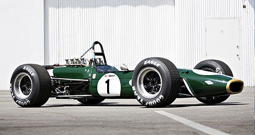 General News Sport Highest bidder: Sir Jack Brabham's 1967 BT24 formula one race car has been sold at auction in the United States.