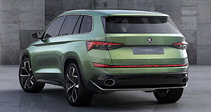 Skoda 2017 VisionS Crystal clear vision: Skoda says its VisionS SUV concept was inspired by Czech cubism and Bohemian crystal art.