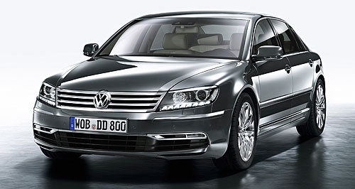 Volkswagen 2009 Phaeton Going chrome: VW's big Phaeton limo has been given another spit and polish, mainly for the Chinese market.