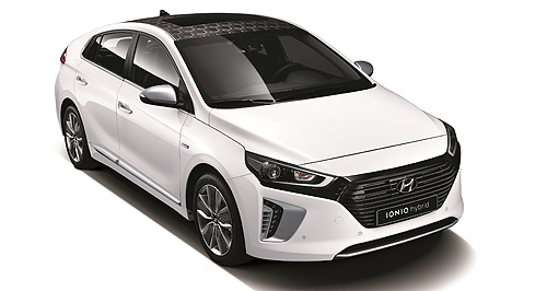 Hyundai 2016 IONIQ Hipster Hyundai: In pursuit of sustainability, some of the Ioniq's interior materials are made using wood fibre, volcanic stone and soy bean oil-based paints.