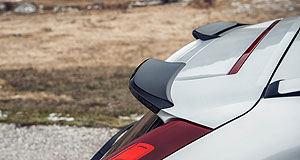 Volvo  Spoiler alert: Polestar Performance Parts, such as this spoiler for the XC60, will be available for purchase from April onwards.