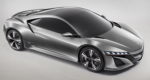 Honda 2015 NSX Back in action: Honda is back in the supercar game with the reborn Acura NSX revealed at Detroit.