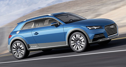 Audi 2016 TT Iconic growth: Audi could morph the Allroad concept from this year's Detroit show (left) into a new TT derivative.