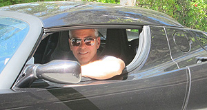 Tesla Roadster One careful owner: Actor George Clooney at the wheel of his 2008 Tesla Roadster Signature 100 edition.
