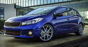 Kia 2016 Cerato Two faced: Kia's updated Cerato has been given a second styling option when dressed up in SX hatchback glad rags.