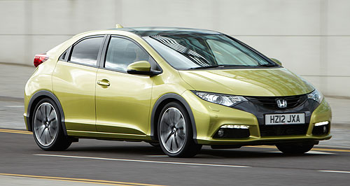 Honda 2013 Civic Type RR is for Return: The Honda Civic Type R is set to re-appear in 2013, after the previous version (left) was discontinued at the start this year. Note: Picture below is of standard Civic hatch.