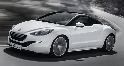 Peugeot 2013 RCZ No go for show: The Peugeot 208 GTi premiered in Paris last month ahead of its arrival in Australian showrooms around May 2013, but don't expect to see one at this year's AIMS in Sydney.