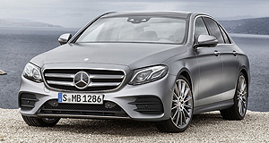 Mercedes-Benz 2016 E-Class Familiar face: Mercedes' tenth-generation E-Class has been officially revealed wearing similar looks to its smaller C-Class sibling.