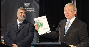General News Finance Grand plan: Senator Kim Carr and prime minister Kevin Rudd.