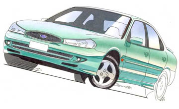 2000 Ford Mondeo ST24 sedan Car Review