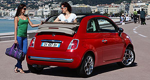 Fiat 2010 500 C convertibleTop down: Fiat says it has 360,000 orders for the 500C, half of them from Italy.