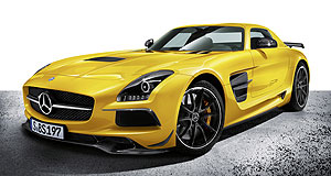 Mercedes-AMG 2017 GT RBack in black: The ballistic SLS AMG Black had a top speed of 315km/h and could race from 0-100km/h in 3.6 seconds.