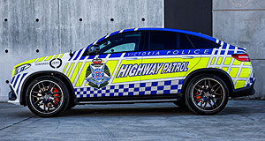 Mercedes-Benz  Blue wonder: Mercedes-Benz Australia-Pacific is lending this GLE63 to the Victoria Police Force, thus creating Australia's fastest police car.