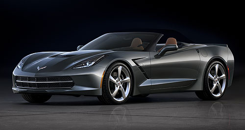 Chevrolet 2013 Corvette StingrayTop down: The iconic Chevrolet Corvette Stingray muscle car will get its first showing in convertible guise at the Geneva motor show this week.