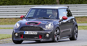 Mini 2013 Cooper John Cooper Works GPSpeed machine: The production Mini John Cooper Works GP edition will appear for the first time at the Paris motor show on September 27, just months before it hits Australian shores.
