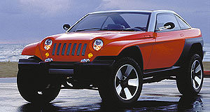 Jeep 2015 Sub-compact Italian-American: Jeep's smallest vehicle will have Italian origins, sharing underpinnings with the Fiat Punto small hatch. (1998 Jeep Jeepster concept pictured)