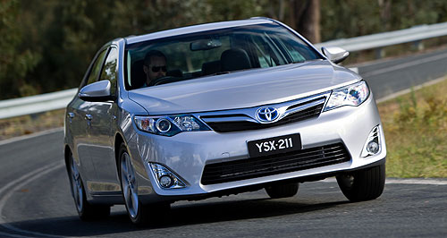 Toyota  Top spot: Toyota has edged out General Motors in global sales to be number one for the first quarter of 2012.