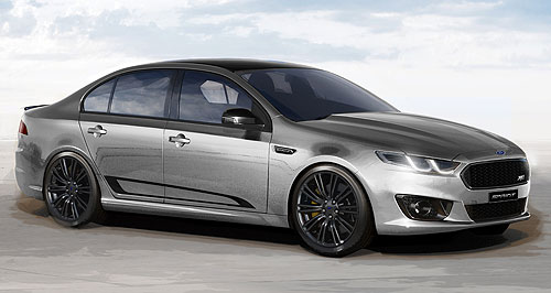 "Ford Falcon SprintSharp intake of air: The locally made carbon-fibre cold air duct fitted to Ford's Falcon XR6 Turbo Sprint is not just for show, and ""increases performance feel,"" according to the company (XR8 Sprint pictured below)."