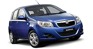 Holden Barina New look: The new Barina as it appears on Holden's website.