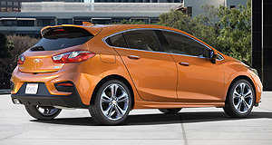 Chevrolet 2016 Cruze HatchWorld Cruze: 3.5 million Cruzes have been sold around the globe since its introduction in 2008 but the latest hatchback version will be giving Australia a miss.