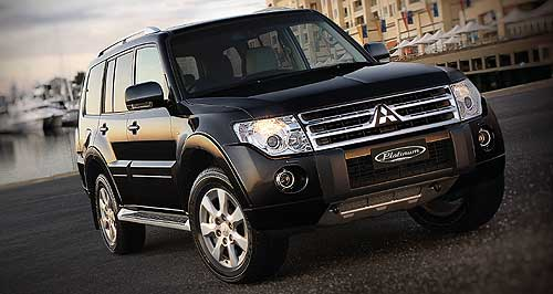 Mitsubishi Pajero Limited: Platinum Edition is now on sale with both petrol and diesel engines.