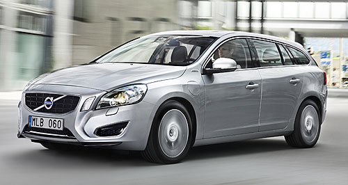 Volvo 2014 V60 Plug-in HybridInnovative: The Volvo V60 is a diesel-electric hybrid car that can also be charged from an external power source.