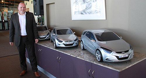 Hyundai  Design dream: Thomas Burkle could not resist the challenge of creating an entire image for an emerging brand.