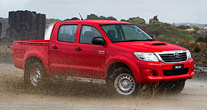 General News  Model behaviour: The Toyota HiLux utility has a chance at being Australia's top-selling vehicle this year, but it faces tough competition from the Mazda3 and stablemate Corolla.