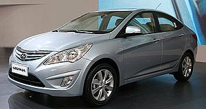 Hyundai 2011 i25 Getz replacement: The new RB-series Accent four-door emerged as the Verna sedan at the Beijing motor show in April and has been on sale in China for two months.