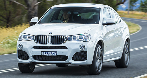 BMW X4 xDrive35dBurn baby burn: The xDrive35d replaces the 30d in BMW's Australian X4 range and is on sale now.