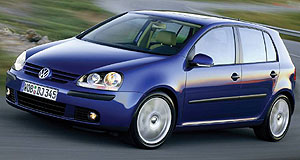 Volkswagen Golf No hot air: Driver's is one of six airbags standard in new Golf range.