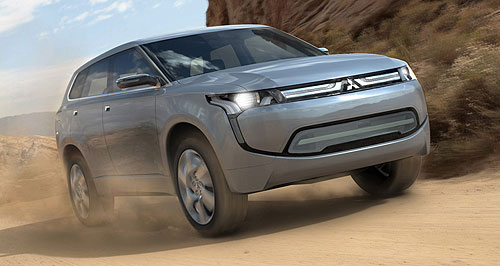 Mitsubishi 2013 Outlander Plugged-in: PX-MiEV concept is expected to morph into next-generation Outlander hybrid.