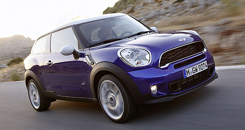 Mini 2013 Paceman On the way: Australia will be among the first markets to get the jacked-up Mini Paceman coupe, which is based on the Countryman SUV as a rival for the Range Rover Evoque.