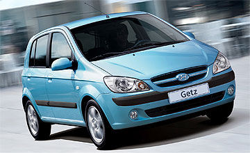Hyundai Getz hatch range - Action shot