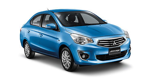 Mitsubishi 2014 Attrage Name game: The Attrage is a combination of the words 'attractive' and 'Mirage', but it's unclear whether it will keep that name in Australia.