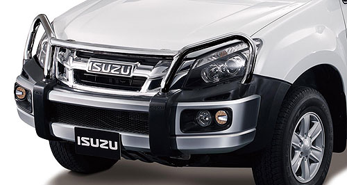 Isuzu D-Max Raising the bar: Isuzu Ute Australia takes calls from international markets for Australian-made official accessories like bull bars and snorkels for its Thai-built D-Max ute.