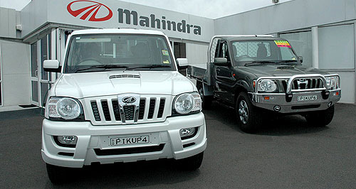 Mahindra Pik-Up New territory: Mahindra's Pik-Up utes are now available through four outlets in WA.