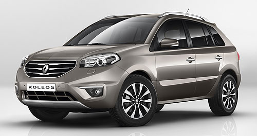 Renault  Coming soon: The new look Renault Koleos will appear in late-November with a redesigned nose and tail treatment.