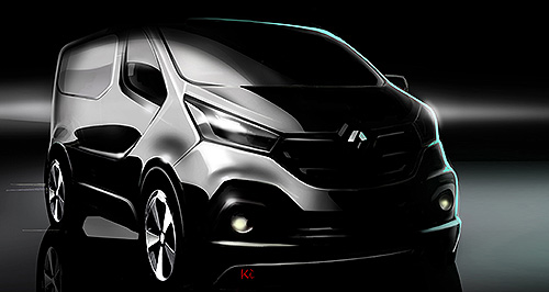 Renault 2015 Trafic Vantastic: The Opel Vivaro, teased by this image, could potentially come here as a Holden, although it's not believed to be a top priority.