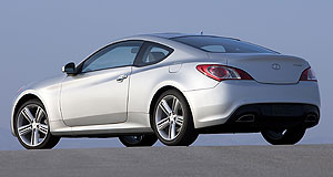 Hyundai 2014 Genesis CoupeFlagship: Unlike the current, first-generation Hyundai Genesis coupe (left), the next-gen model will be available for the Australian market.