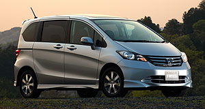 Honda 2013 Freed Jazzed up: The Honda Freed mini people-mover is based on the Honda Jazz.