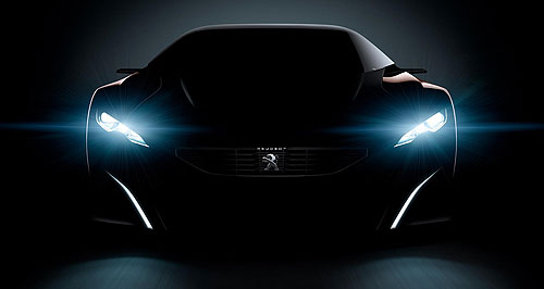 Peugeot 2015 Onyx Black beauty: Peugeot has sprung this image of what European reports are calling the Onyx hybrid supercar.