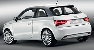 Audi 2010 A1 Plugged in: A1 e-Tron concept heralds an extended-range hybrid version of Audi's all-new A1.